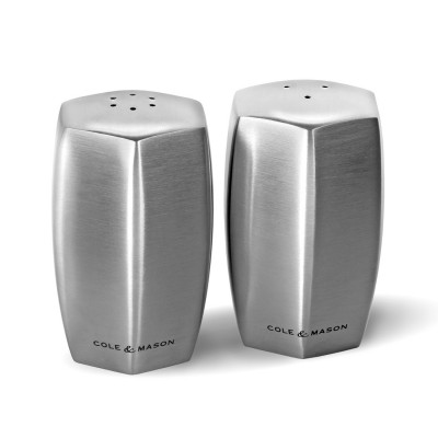 Cole & Mason H101849 Lymington Çelik Tuzluk Biberlik Seti