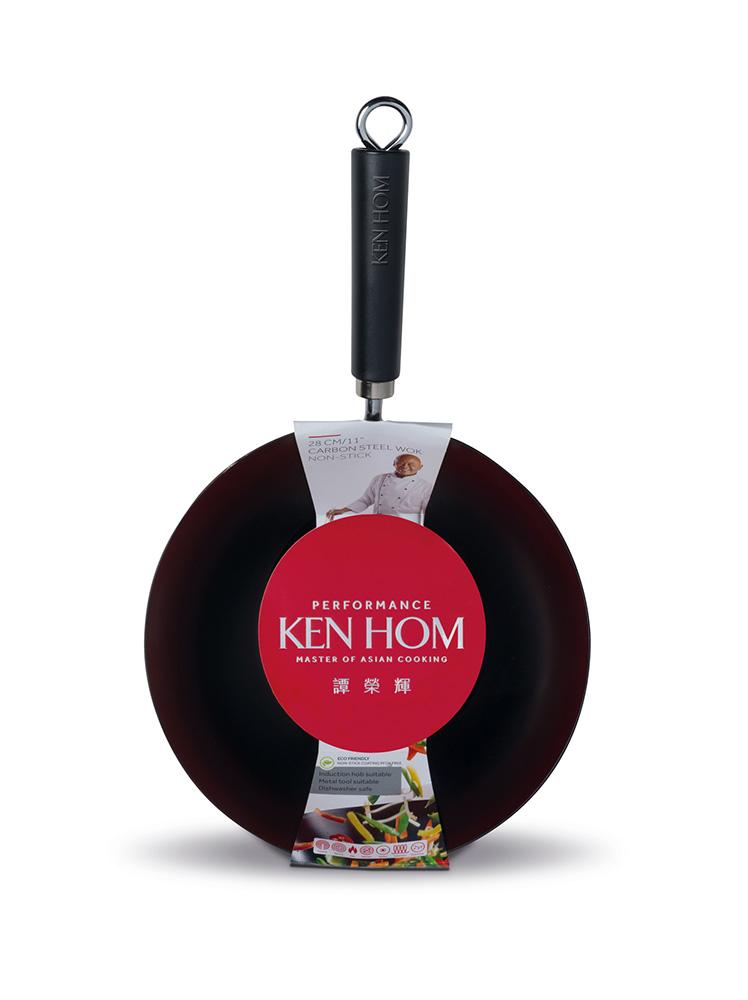 Ken Hom 28cm Yapışmaz, Karbon Çelik Wok Tava